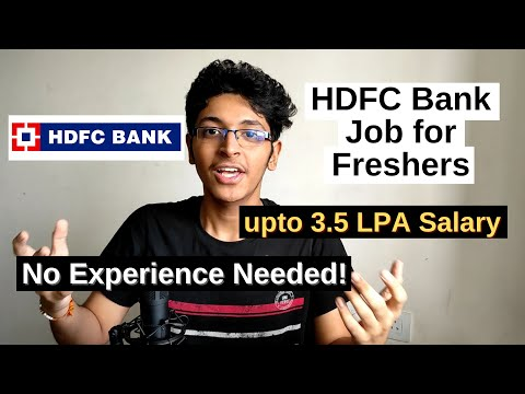 HDFC Bank Jobs for Freshers | Private Bank Jobs For IBPS 2020 Aspirants | HDFC Bank Careers