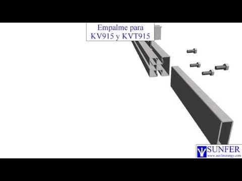 Empalme Coplanar Kv915 Y Kvt915 Sunferenergy Youtube
