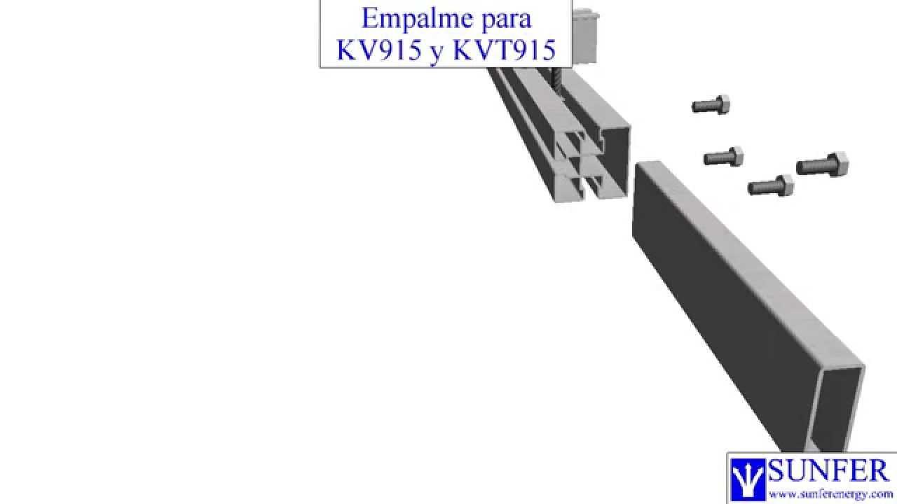 Empalme Coplanar Kv915 Y Kvt915 Sunferenergy