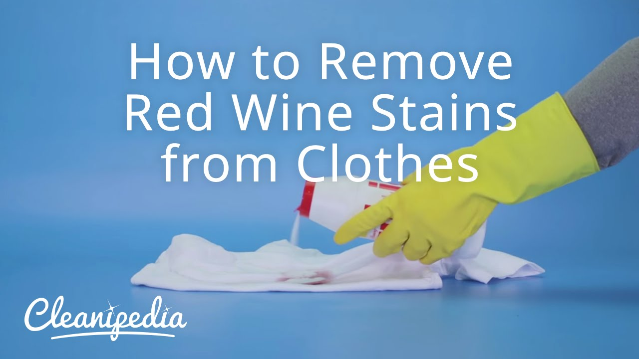 how to remove red wine stains from clothes youtube