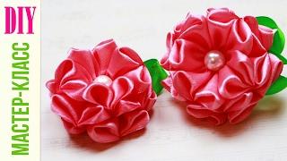 Красивый ЦВЕТОК ИЗ ЛЕНТЫ Мастер-класс / Ribbon Flower Tutorial / DIY NataliDoma