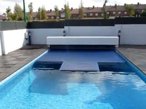 Cubierta automatica para piscinas con cajon y lamas de policarbonato solar mvi 1809 youtube - Calentadores solares para piscinas ...