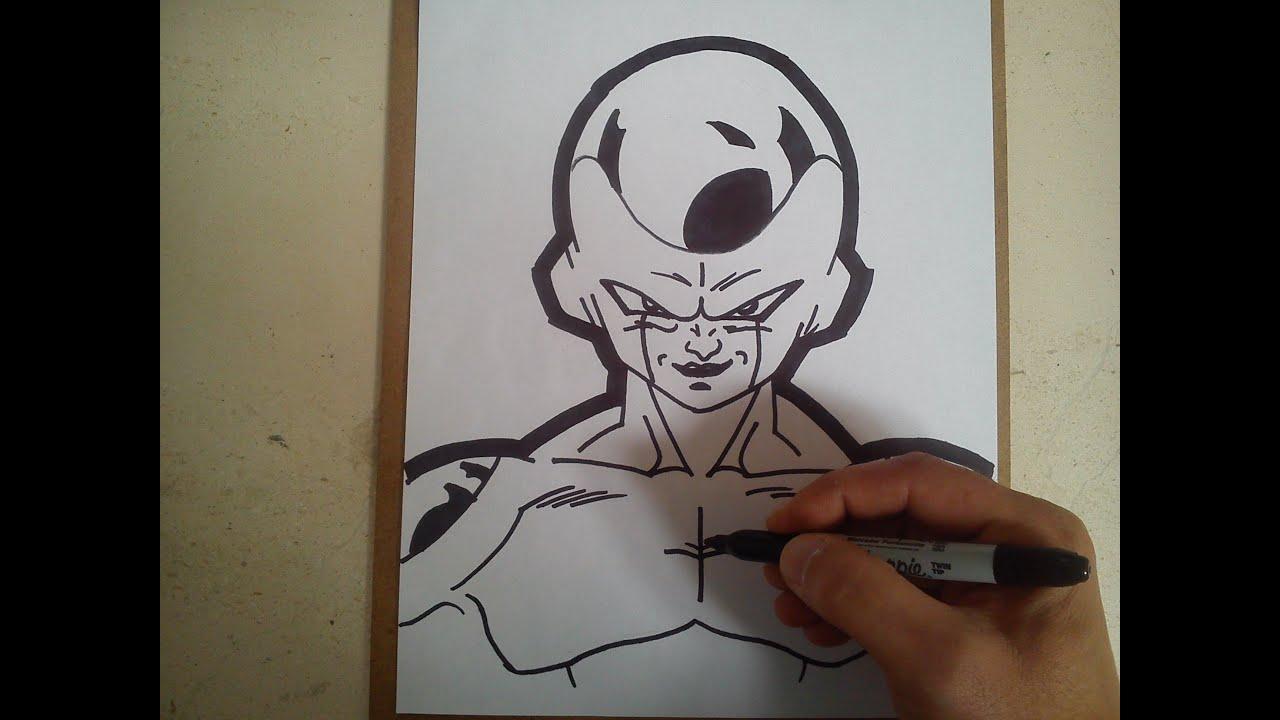 como dibujar a Freezer (dragon ball z) / HOW TO DRAW FRIEZA - YouTube