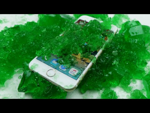 IPhone 6 In Gummy Jello Overnight - Will It Survive?