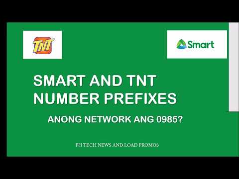 SMART AND TNT NUMBER PREFIXES 2019