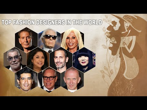 Top Fashion Designers In The World Best Fashion Designers Of All Time Top 10 World Trend Youtube