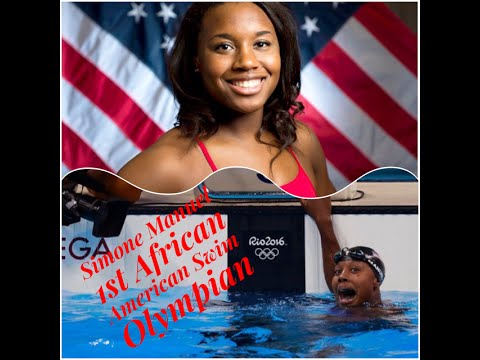 Simon Manuel 1st African American Woman to win an Individual Event in Olympic Swimming 100 Meter ...