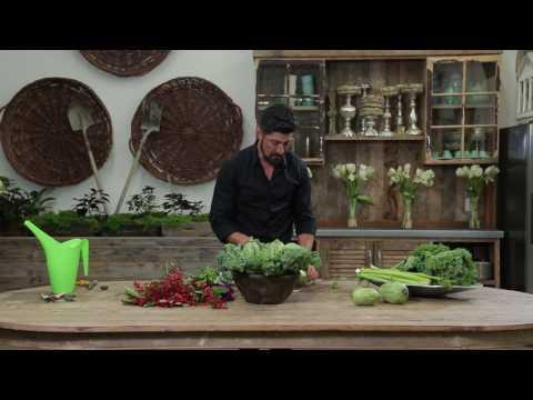 DIY Kale & Squash Arrangement