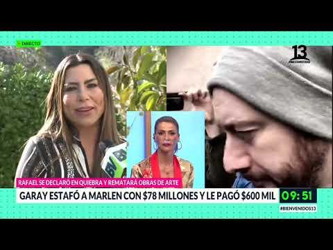Rafael Garay la estafó con $78 millones. Bienvenidos, Canal 13.