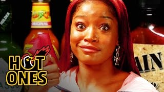 Keke Palmer Laughs Uncontrollably While Eating Spicy Wings | Hot Ones