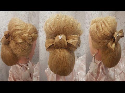 Бантик из волос. Прически волосы средней длины объемные вечерние прически бант hair hairstyles