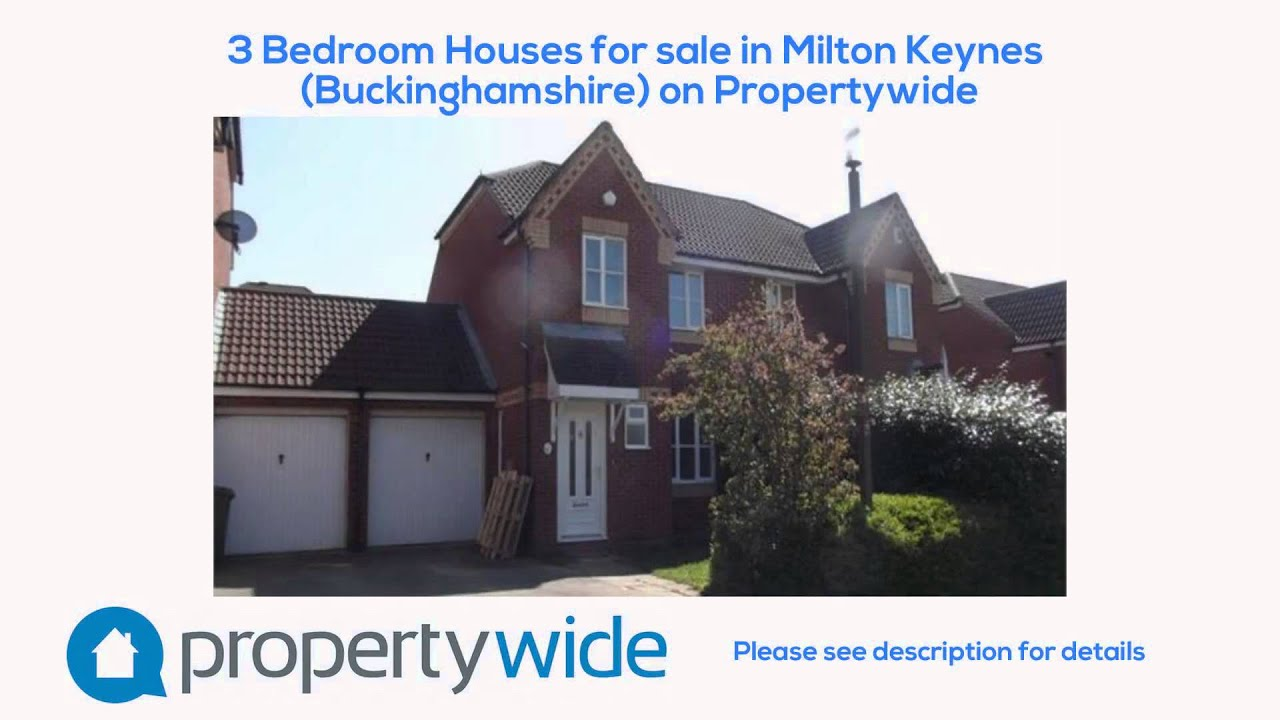 3 Bedroom Houses For Sale In Milton Keynes Buckinghamshire On Propertywide