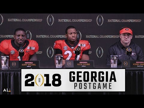 Kirby Smart, Nick Chubb, & Sony Michel address the media following Georgia's title game loss to Bama