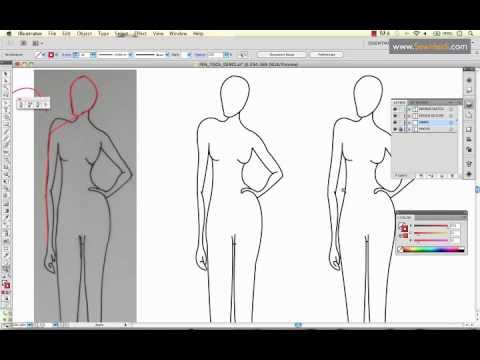 How To Use Adobe Illustrator S Pen Tool To Draw A Fashion Sketch Youtube