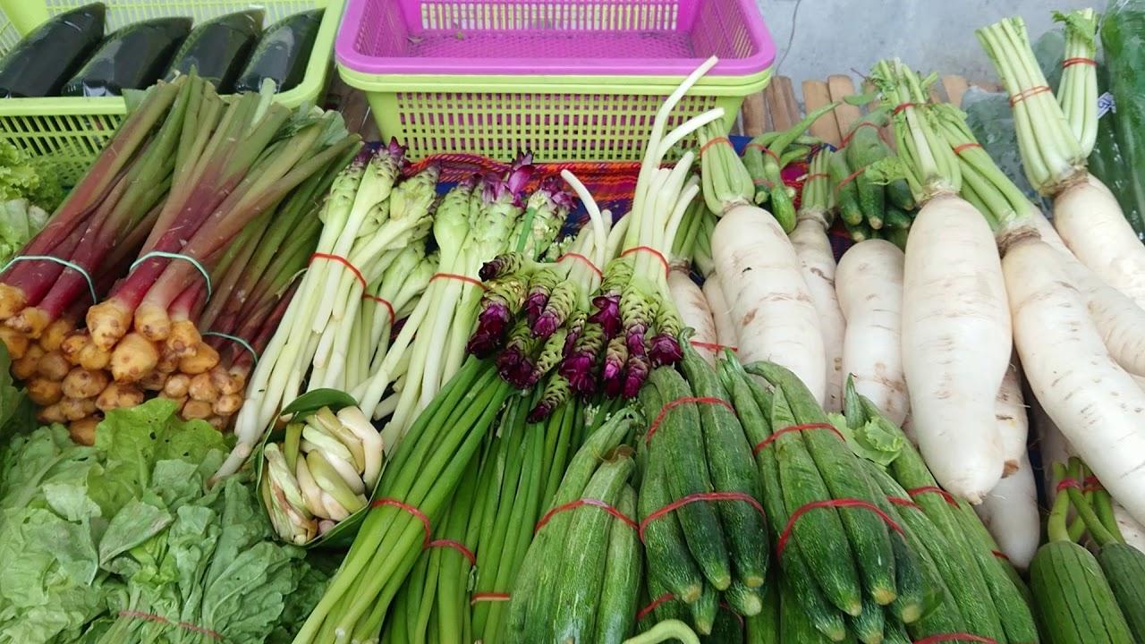 Thai Street Food Thai Local Market ผักสดตลาดนัดน่ากินมาก
