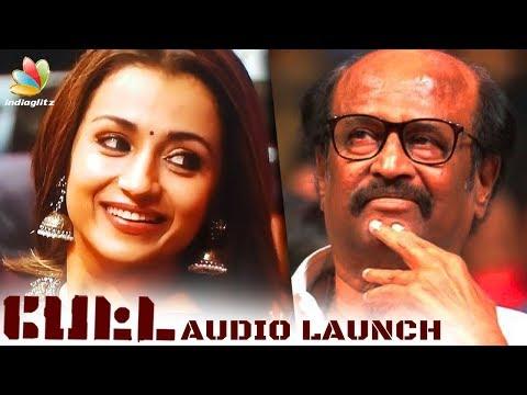 Trisha, Anirudh at Petta Audio Launch Rajinikanth, Simran