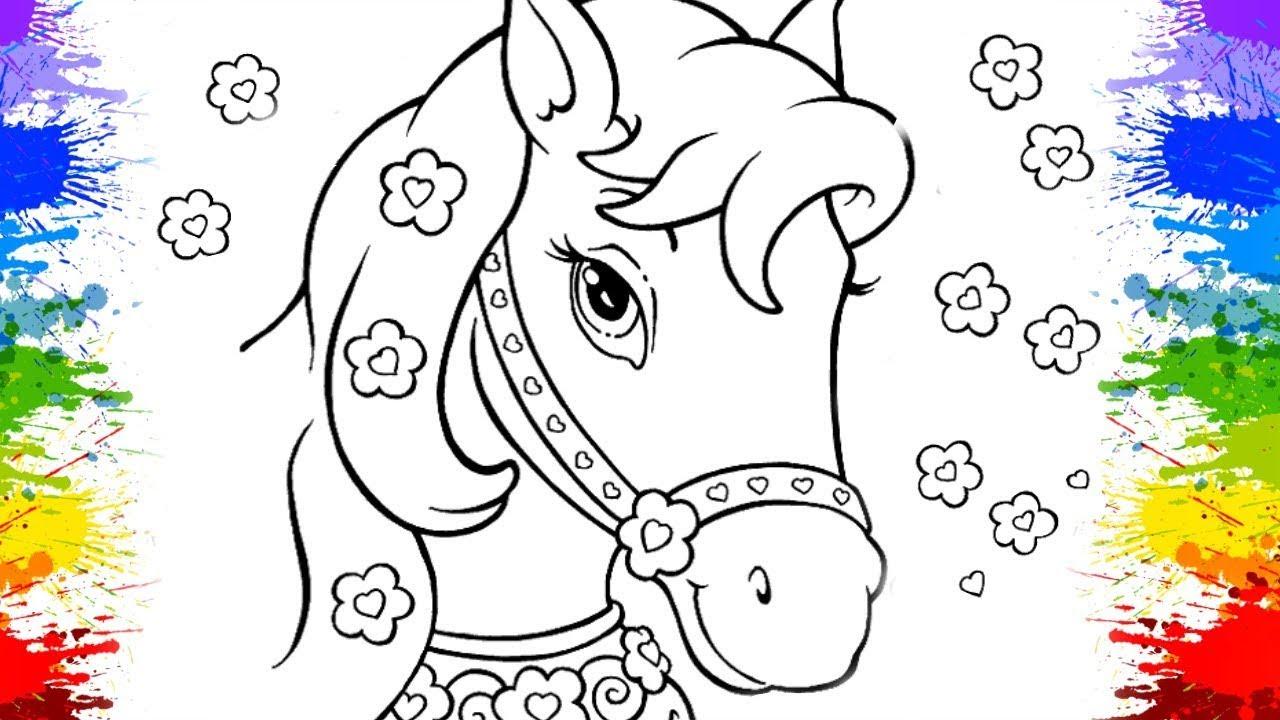 Colorindo Desenho De Unicórnio Para Crianças Desenhos Animados Pinturas How To Draw A Unicorn