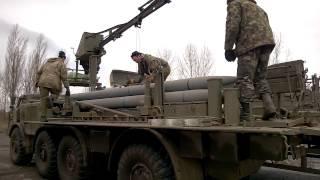 Дебальцево: подготовка снарядов для Урагана АТО(Дебальцево: подготовка снарядов для РСЗО