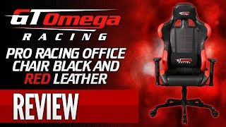 Gt Omega Racing Pro Gaming Office Chair - Black & Red Leather [review]