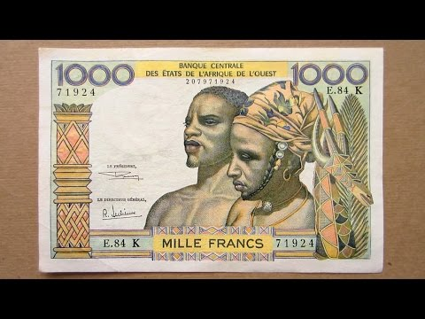 1000 West African CFA Francs Banknote (Thousand CFA Francs Senegal / 1965) Obverse and Reverse