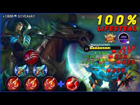 LEOMORD 100% LIFE-STEAL BUILD, When Dark Abyss Leader Trolling Whole Land of Dawn!
