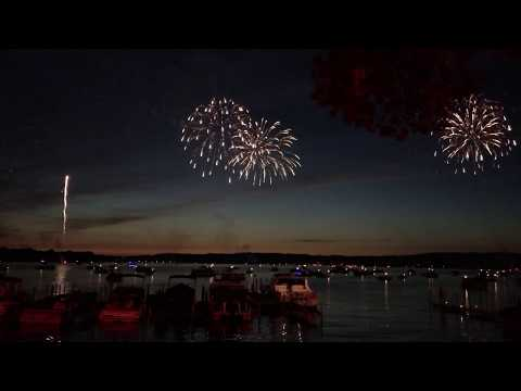 Fireworks In Bemus Point, New York July 4th, 2017