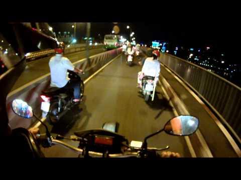 Saigon Bridge at night
