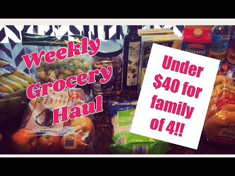 Weekly Grocery Haul | Under $40 for family of 4!!  Vegan / Vegetarian