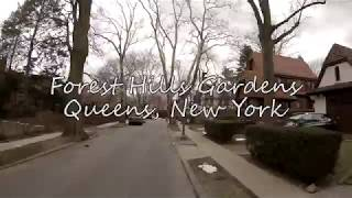 Forest Hills Gardens, Queens New York.  March 25th 2018 in 4K