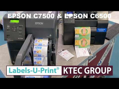 EPSON C7500G - EPSON C6500 - Colour Label Printers - Labels-U-Print ® - KTEC Group UK