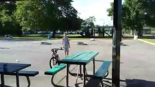 Kids Throw Bike Off Roof