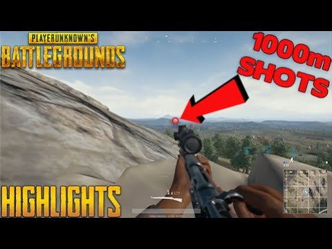 PUBG Highlights #1 - Unbelievable 1000m Shots (PlayerUnknown's Battlegrounds)