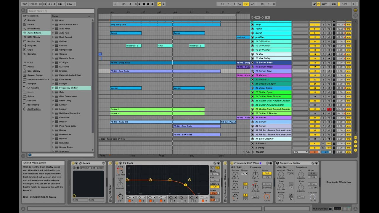 Tape Start Effect for Chord Pitching in Ableton - Serum - Future Bass Saje  Style