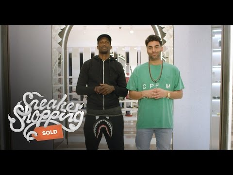 Chad  Ochocinco  Johnson Goes Sneaker Shopping with Complex