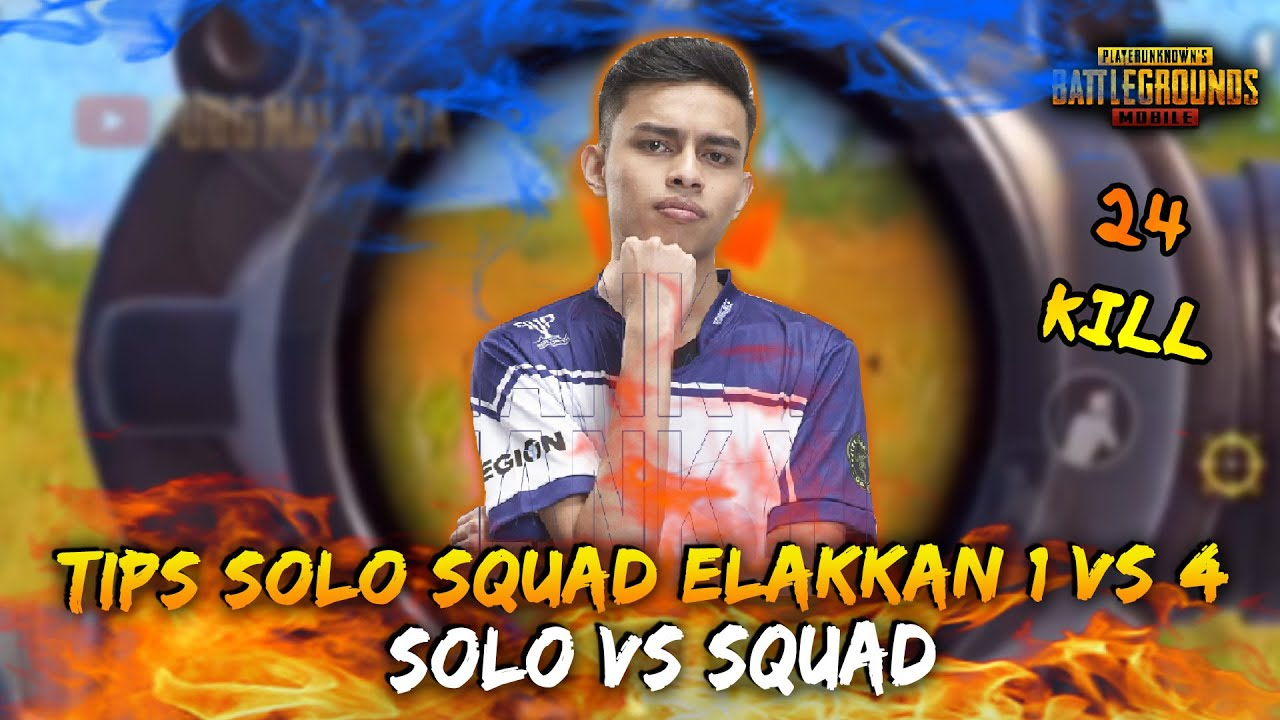 Tips Solo Vs Squad !! Cuba Knock 1 by 1 Dan Sabar | ironPRO Game Play | PUBG Mobile Malaysia