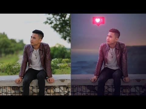 Adding Glowing Love Photo Effect Photoshop Tutorial