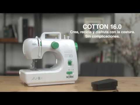 Máquina de coser Cotton 16.0 de Solac - YouTube