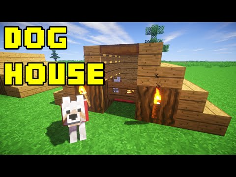 Full download how to make a dog house in minecraft for Minecraft pe simple modern house
