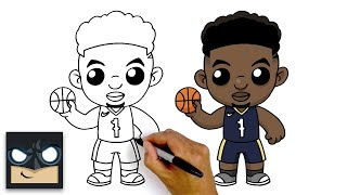 How To Draw Zion Williamson | New Orleans Pelicans