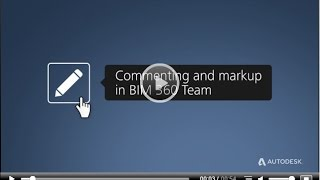 commenting and markup in bim 360 team
