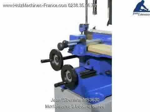 Jean l 39 eb niste ms3630 mortaiseuse b dane carr e machine bois youtube - Mortaiseuse a bedane ...