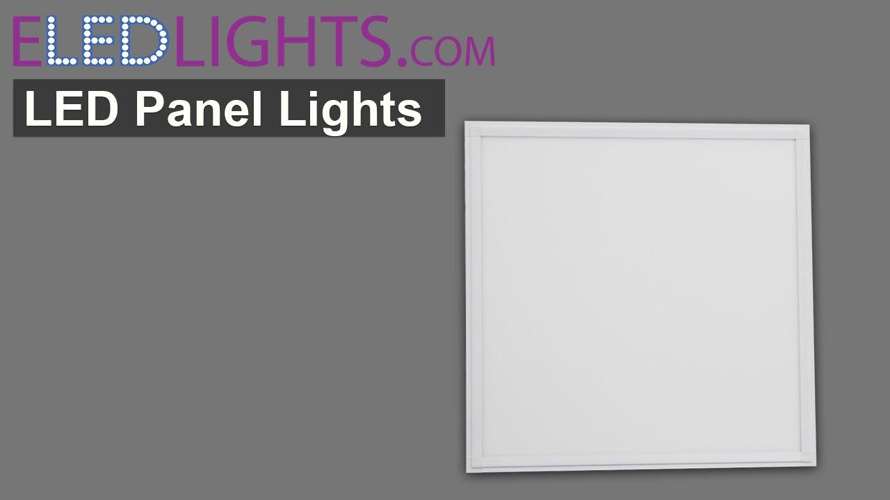 Led Panel Lights Led Ceiling Panels Youtube