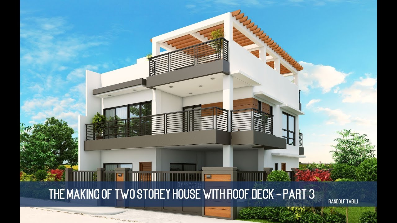 The Making Of Two Storey House With Roof Deck Part 3 Youtube