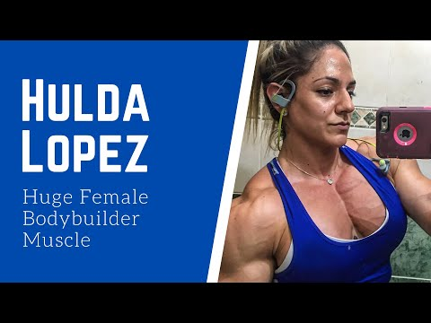 Hulda Lopez Huge Female Bodybuilder Muscles