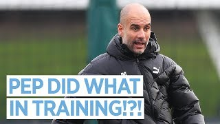 PEP DID WHAT IN TRAINING!?! | MAN CITY