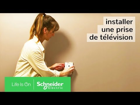 comment installer une prise de t l vision schneider electric youtube. Black Bedroom Furniture Sets. Home Design Ideas