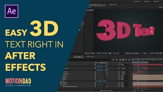 3D Text Animation in After Effects | After Effects Tutorial | No Plugins