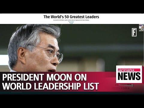 S. Korean President Moon Jae-in fourth greatest leader in the world: Fortune