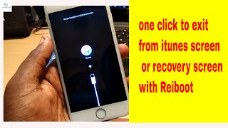 how to fix iphone stuck on recovery screen using REIBOOT