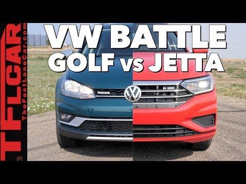 Old vs New Review: 2019 Volkswagen Jetta and 2018 Golf Alltrack Drag Race